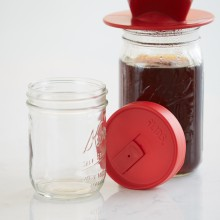 Mason Jar Drink Lid - Red