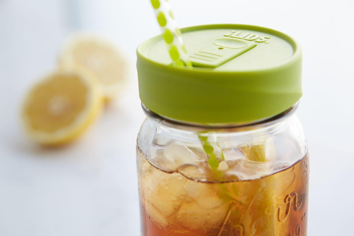 Mason Jar Drink Lid Regular Mouth Intelligent Lids