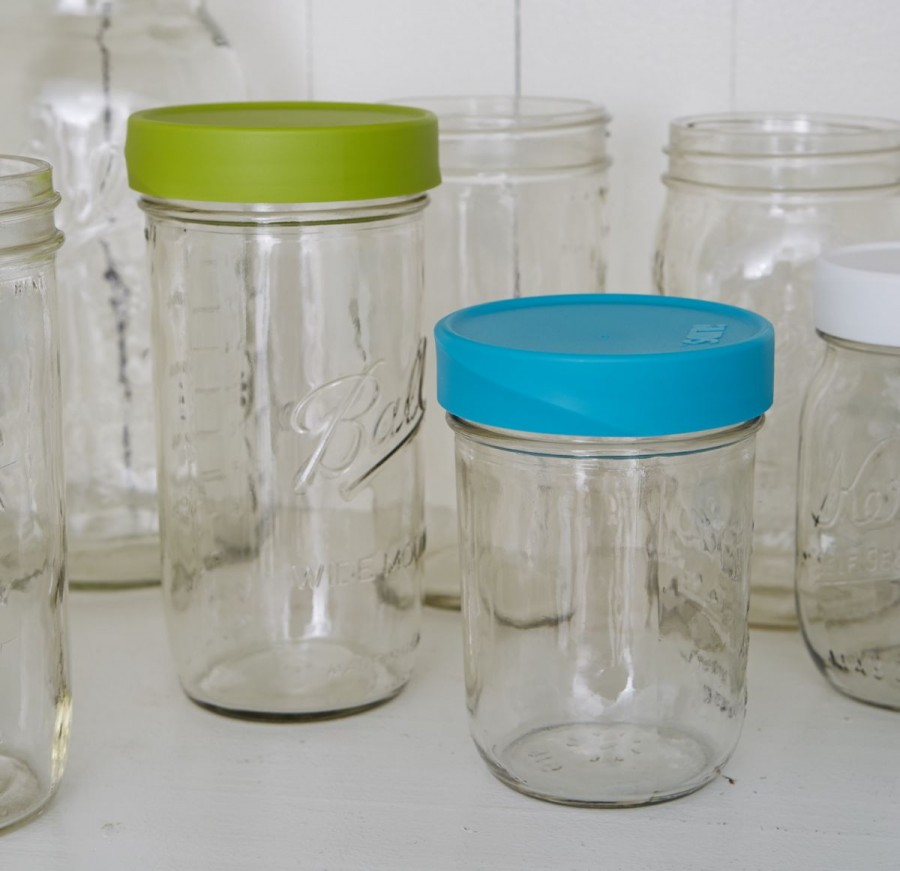 Blue Green Pantry-0767 & Mason Jar Lids Storage - Wide Mouth | Intelligent Lids