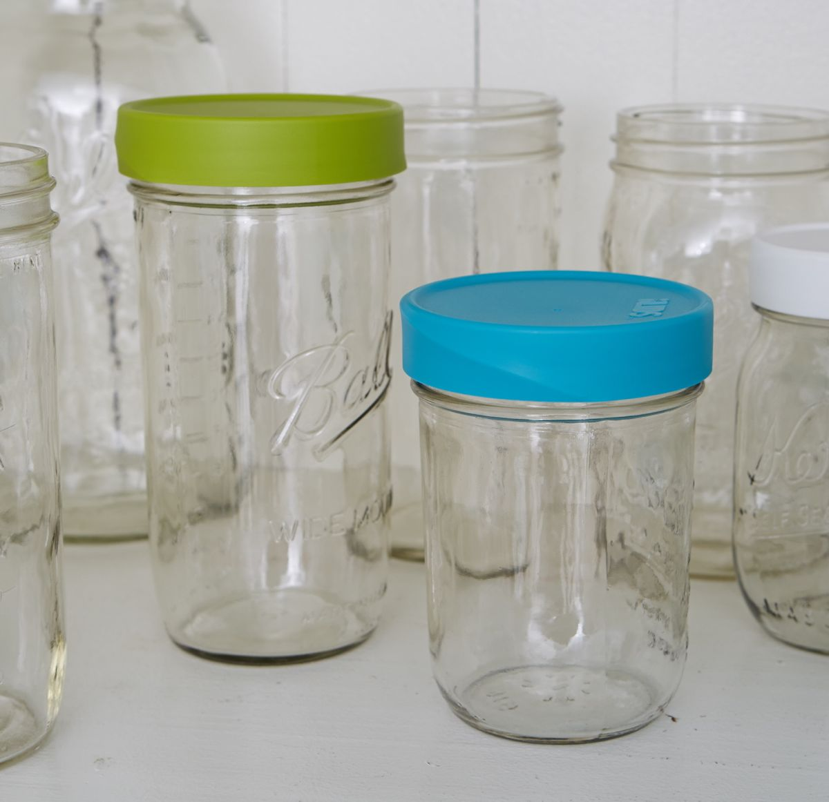 Mason Jar Lids Storage Wide Mouth Intelligent Lids